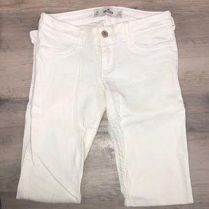 NWOT Hollister White Denim Skinny Jeans
